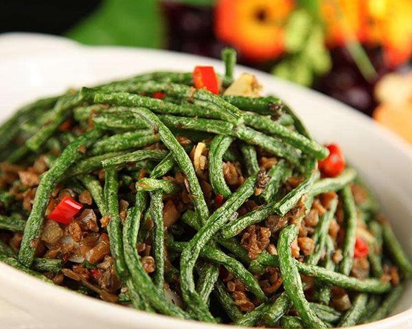 外婆菜炒豇豆